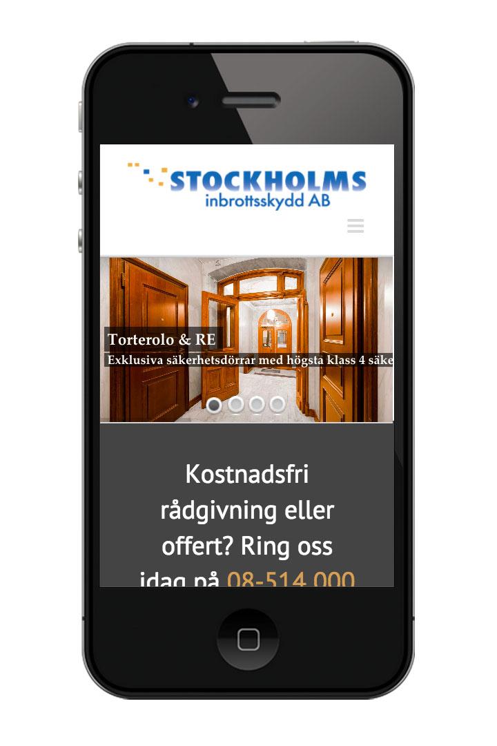 Stockholmsinbrottsskydd.se i mobilen