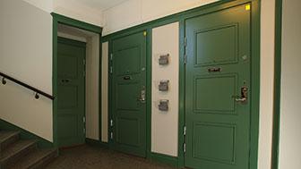 Swedoor gröna säkerhetsdörrar